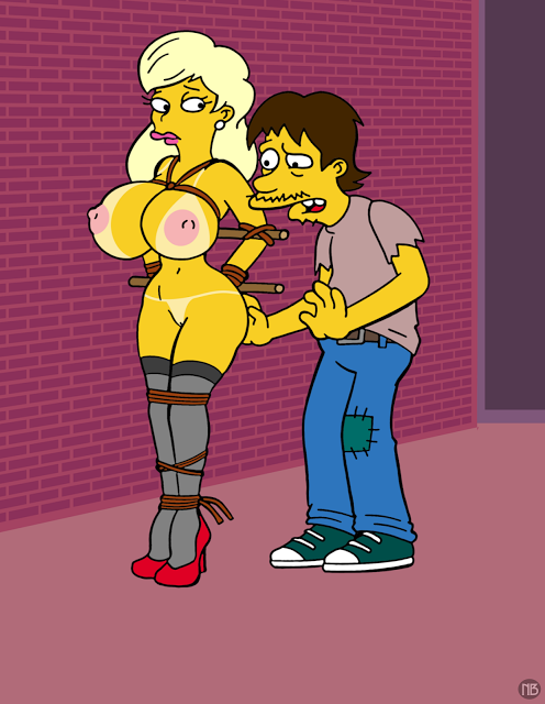 simpsons naked marge from the Wagaya no liliana-san the animation