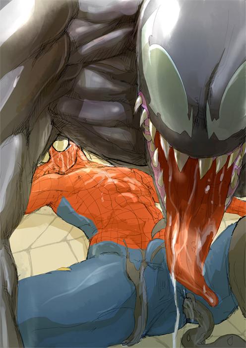 characters man shadows symbiote web of spider Baka dakedo chinchin shaburu no dake wa jouzu na chii-chan 2