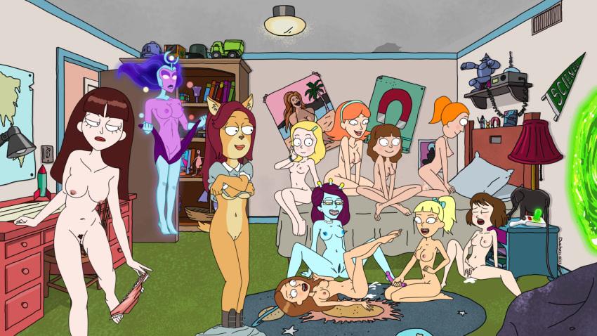 morty naked and sex rick Osu! tatakae! ouendan
