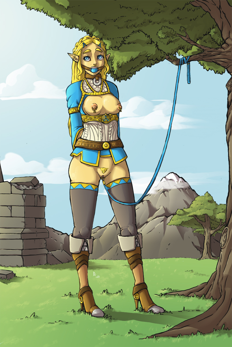 legend of zelda wild revali of the breath Naked girl and a dragon