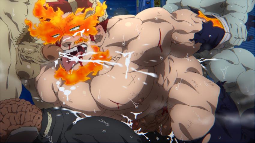 naked academia tsuyu my hero Nouhime (sengoku basara)
